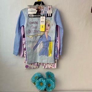 Disney girl's 4 piece long sleeve pajama Set, NWT